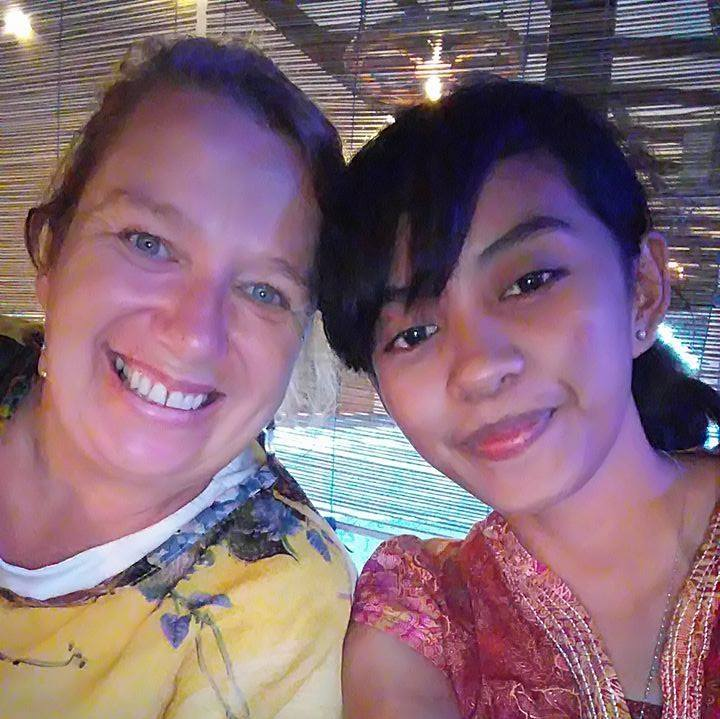 Selfie time for Beth and Sari in Kupang, Indonesia