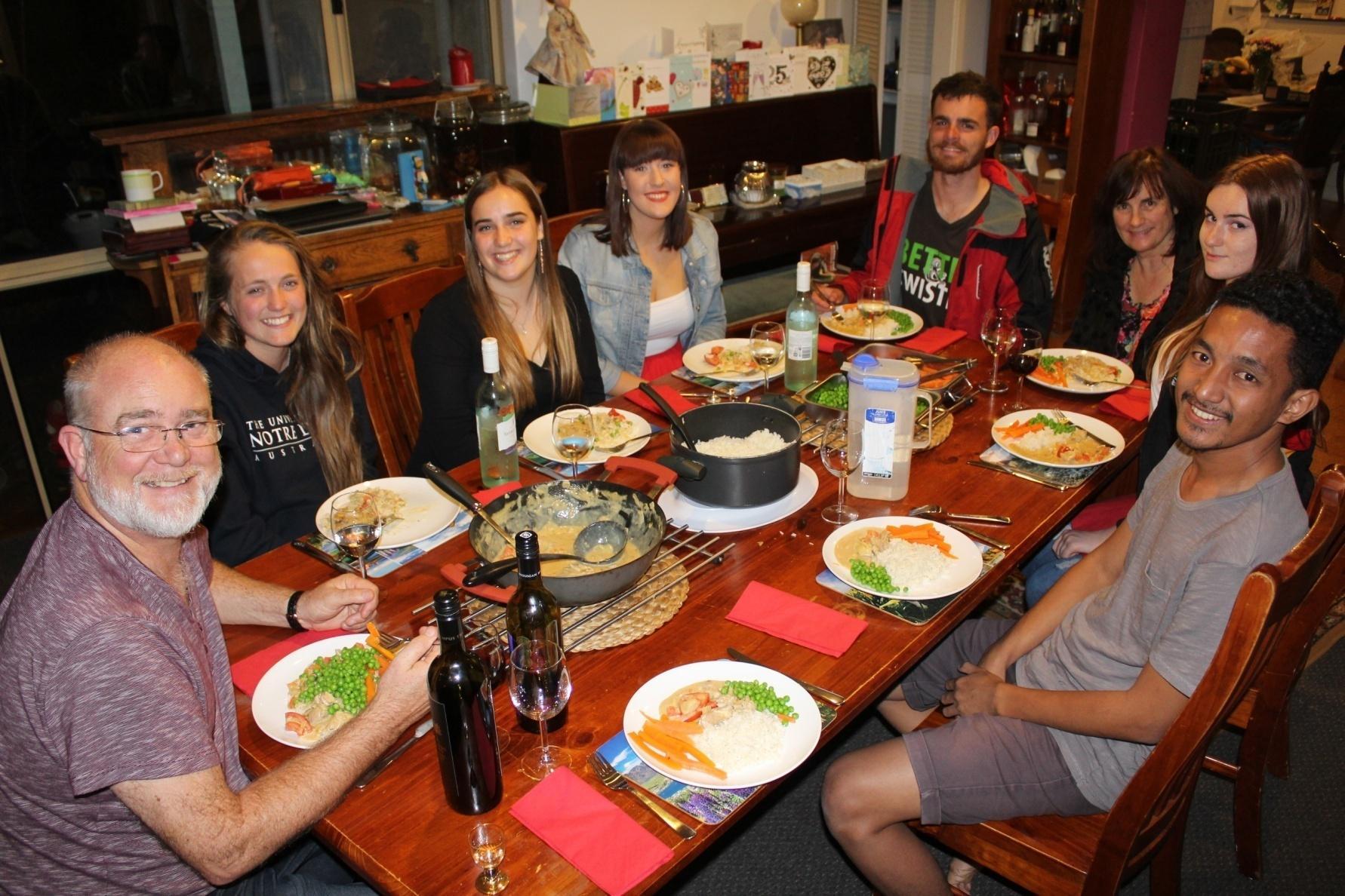 Such a wonderful time having dinner with Pak David Visser's family.