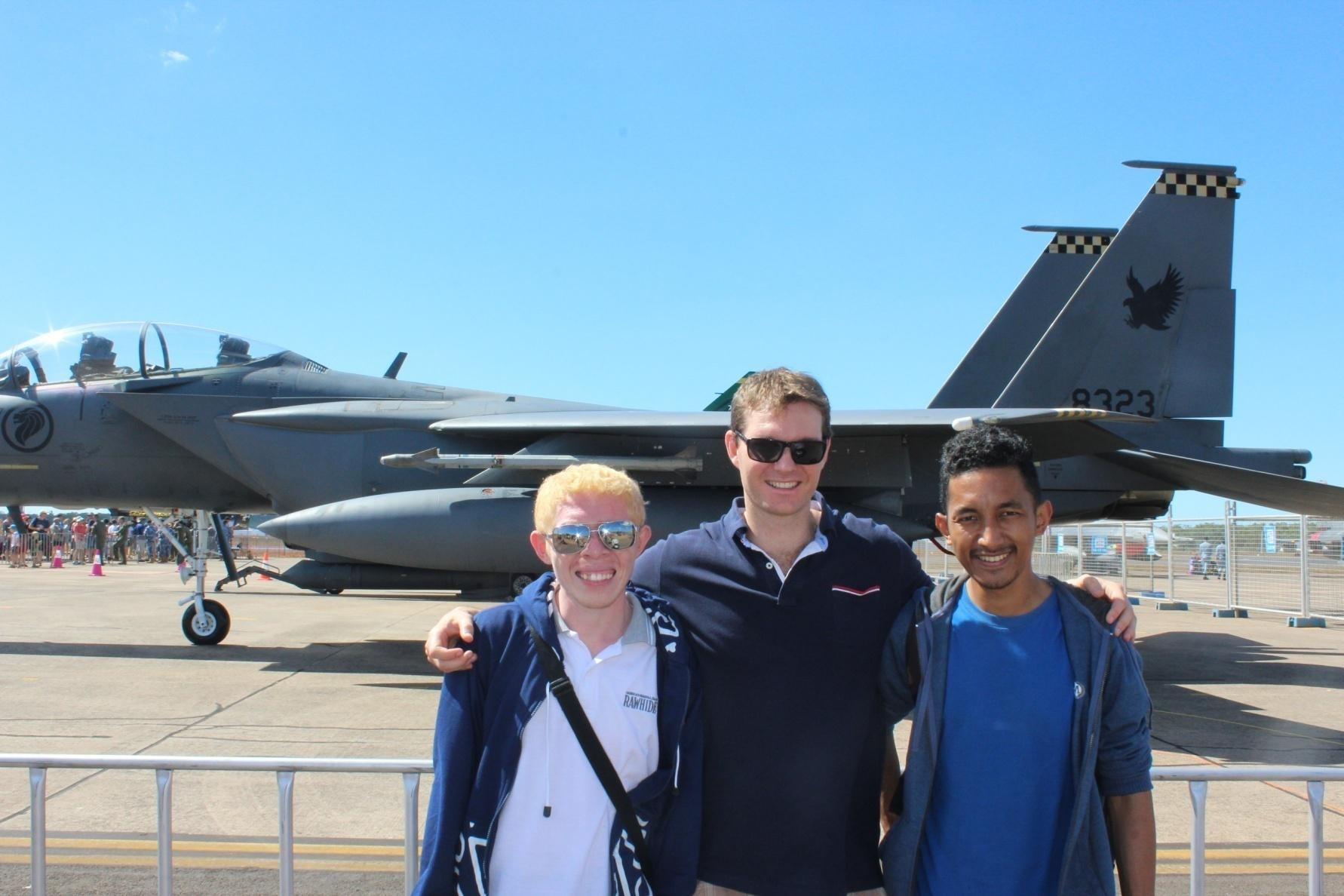 At Black Pitch Air Force Show, Darwin with Pak Nathan Franklin.
