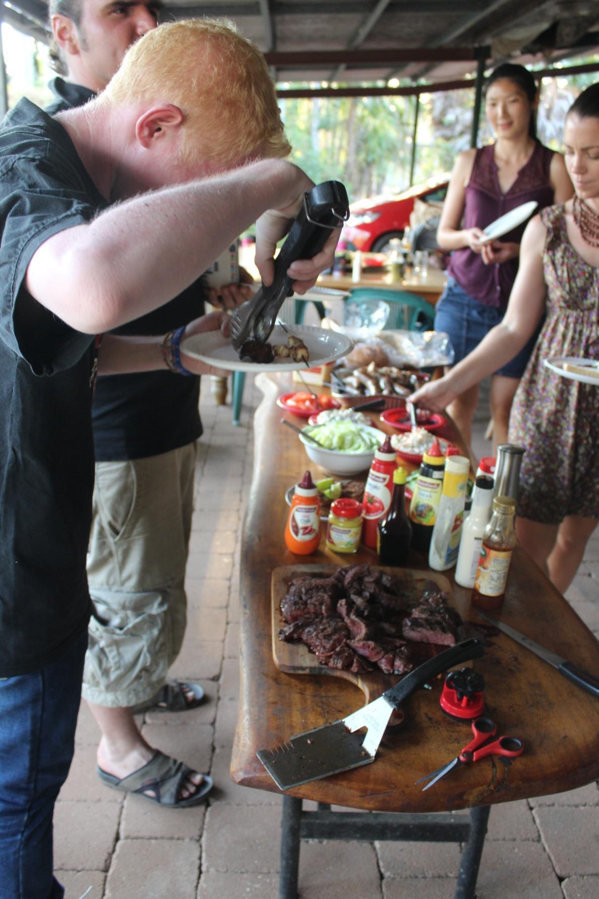 BBQ at Pak Steven's house