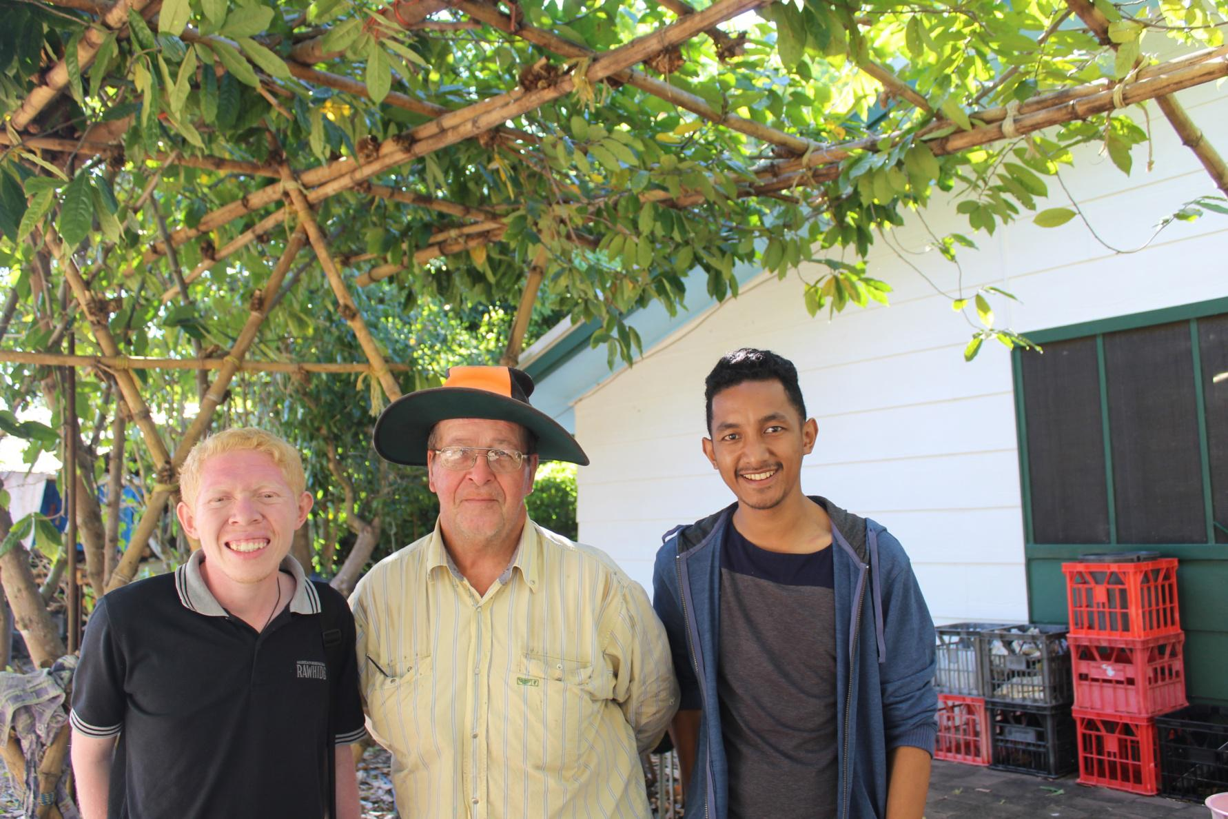 Taking picture with Pak Peter Bekkers, he is the owner farm that we attended.