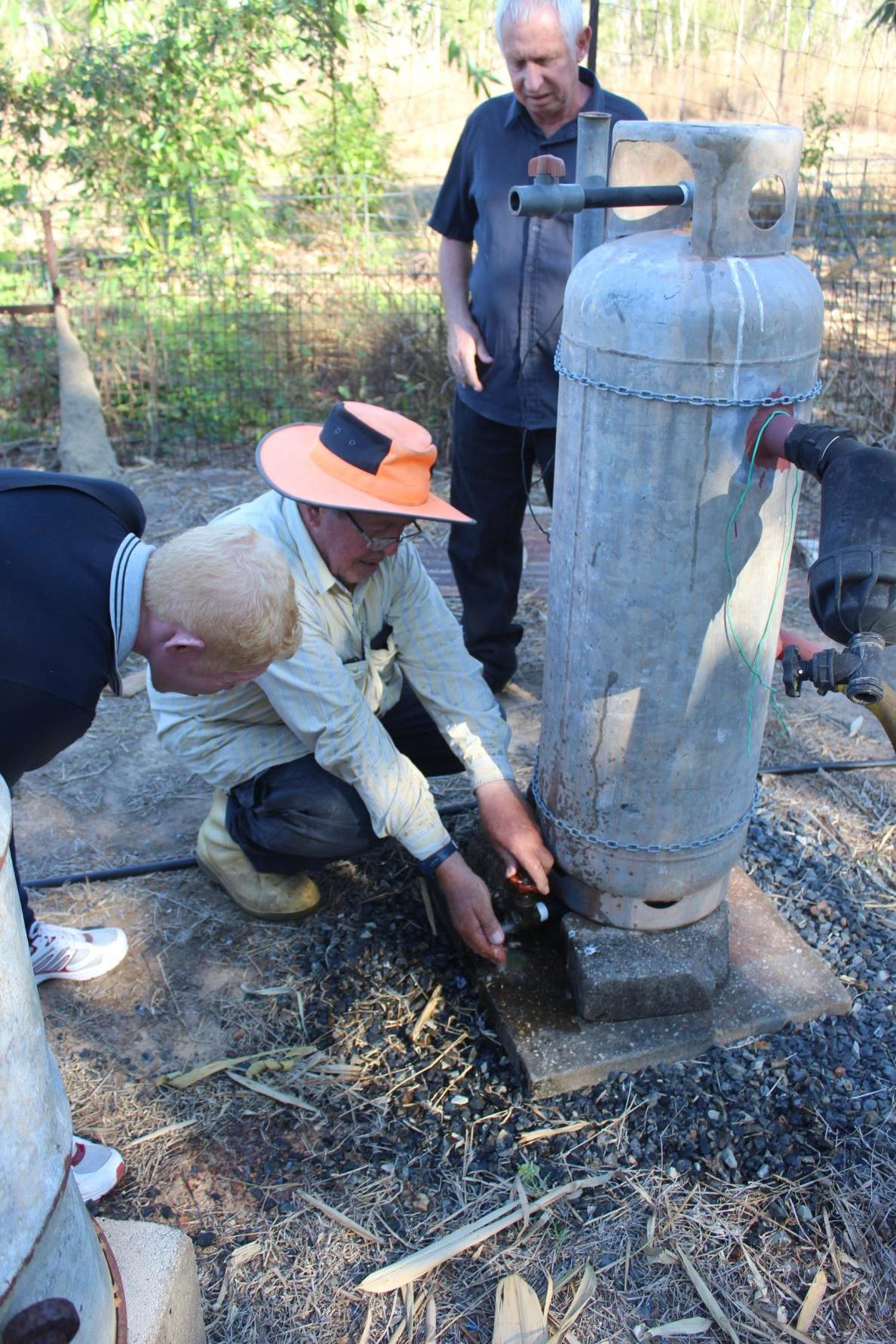 We were shown how to manage and use the water during the dry season.