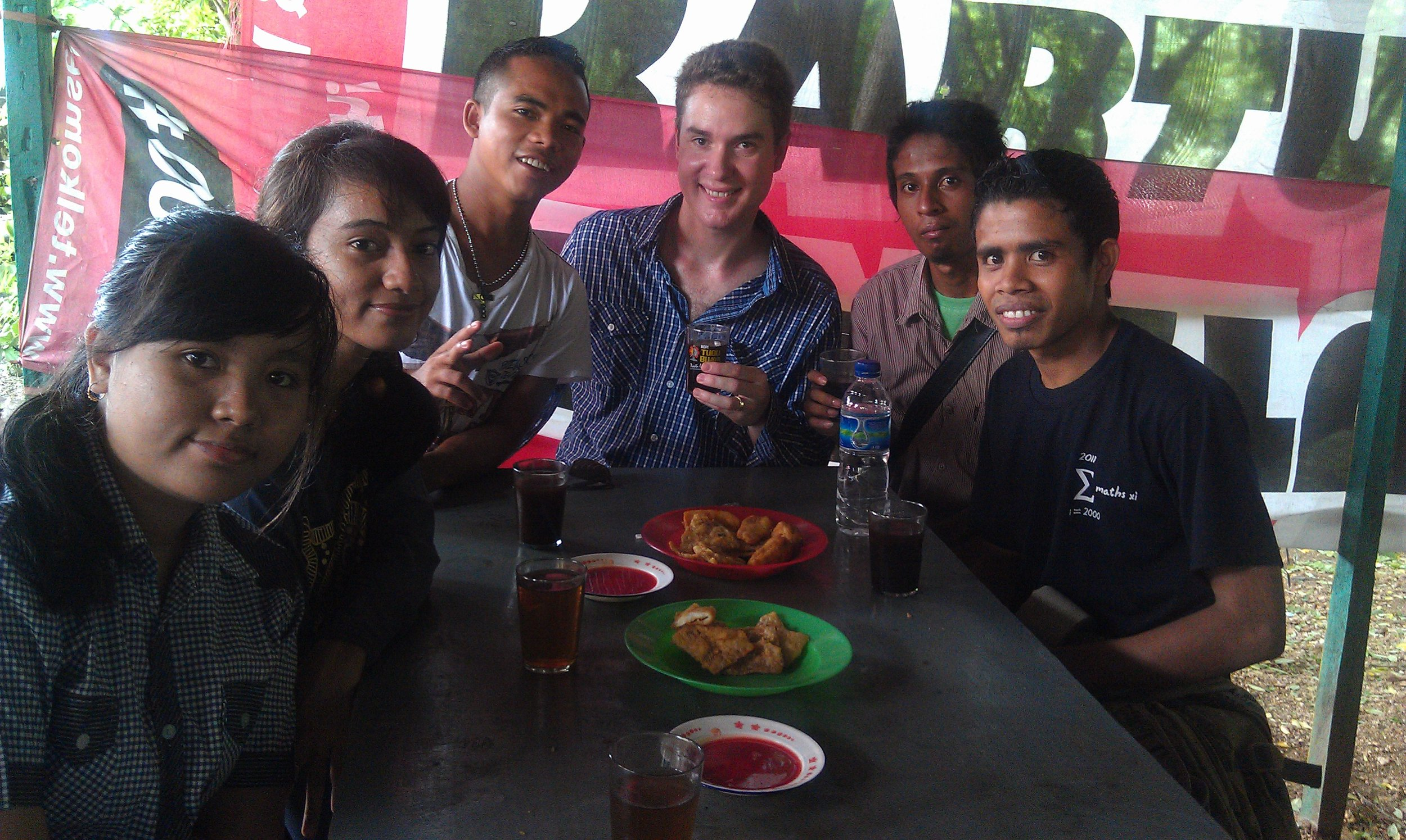 Local language for a local hangout - UNDANA Campus in Kupang, Timor, Indonesia