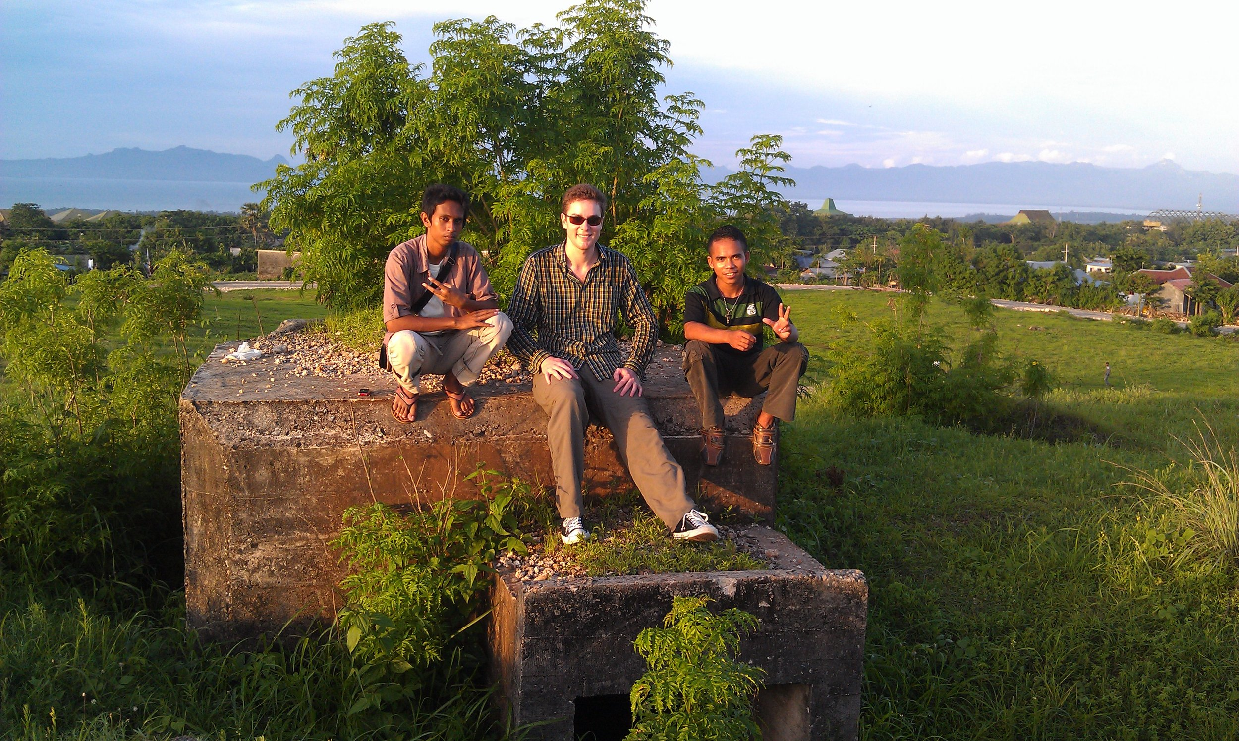 "Local language local hangouts - ""Bukit Bintang"" a place to watch the sunset with your date, or explore historical WW2 Japanese fortifications which were also used by Dutch forces from 1945 till around 1950. Kupang, Timor, Indonesia"