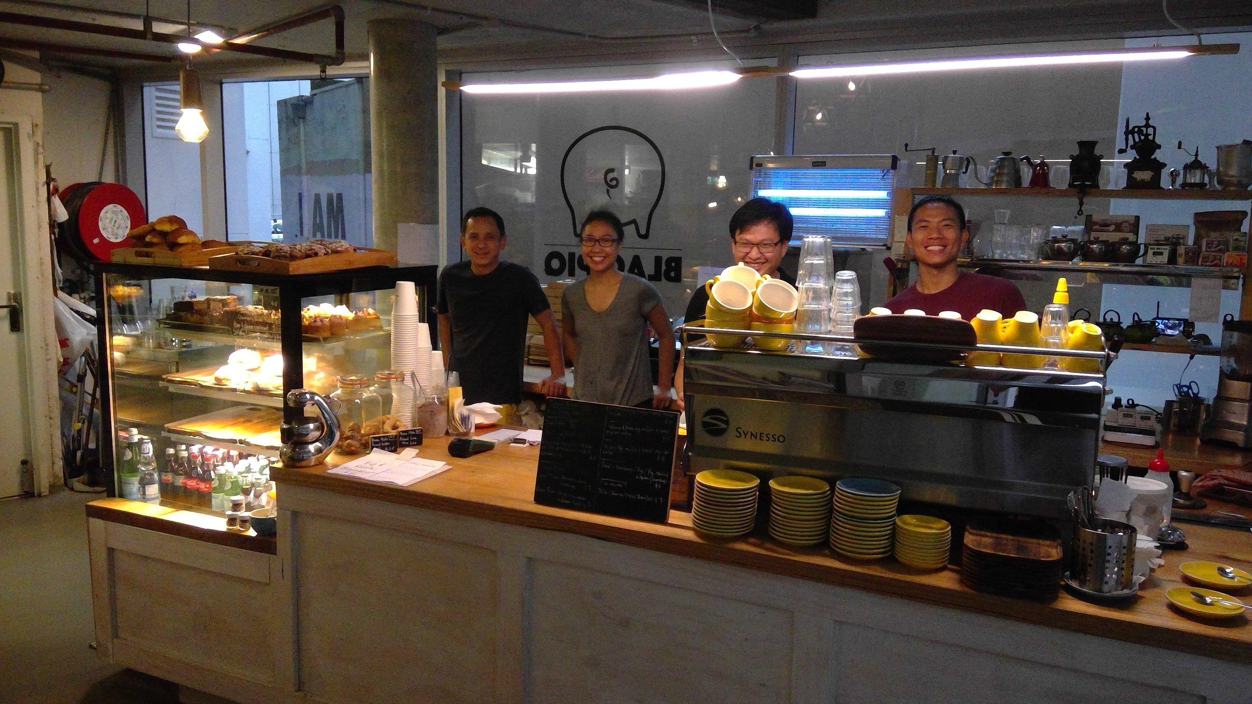 Happily working at  Blaq Piq  in Sydney's CBD