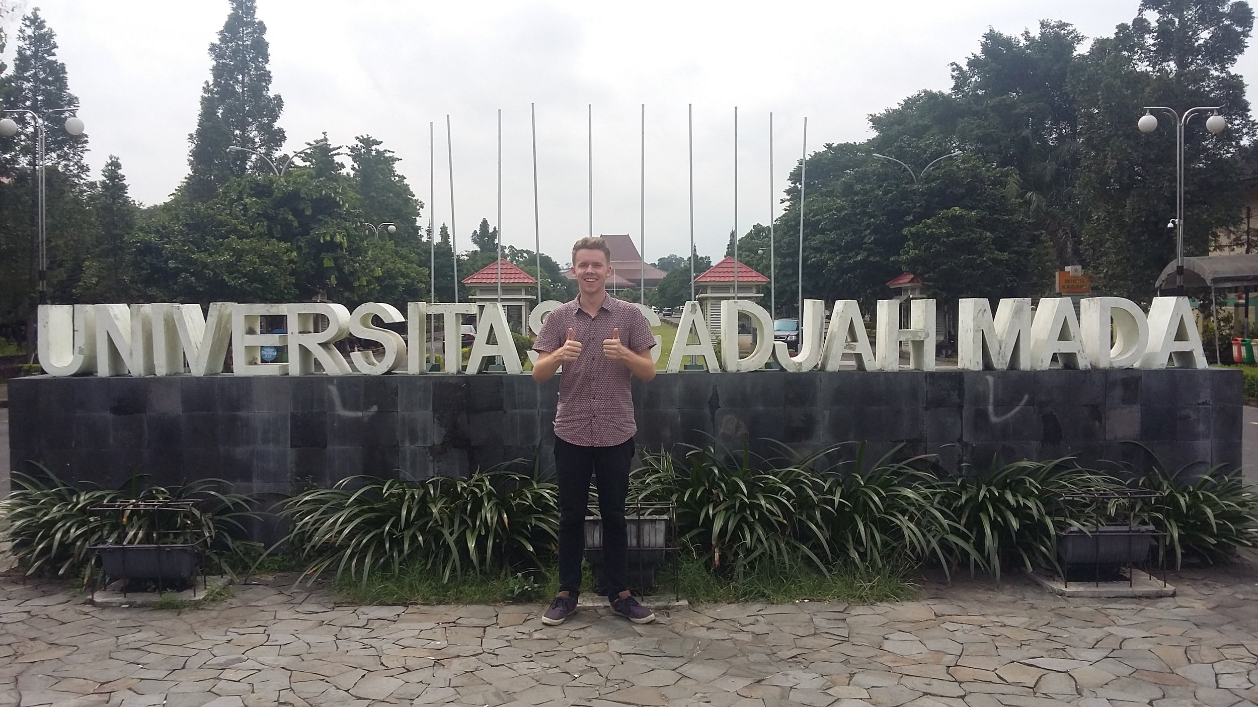 I studied Indonesian literature at Universitas Gadjah Mada in Yogyakarta. Credit - Lachlan