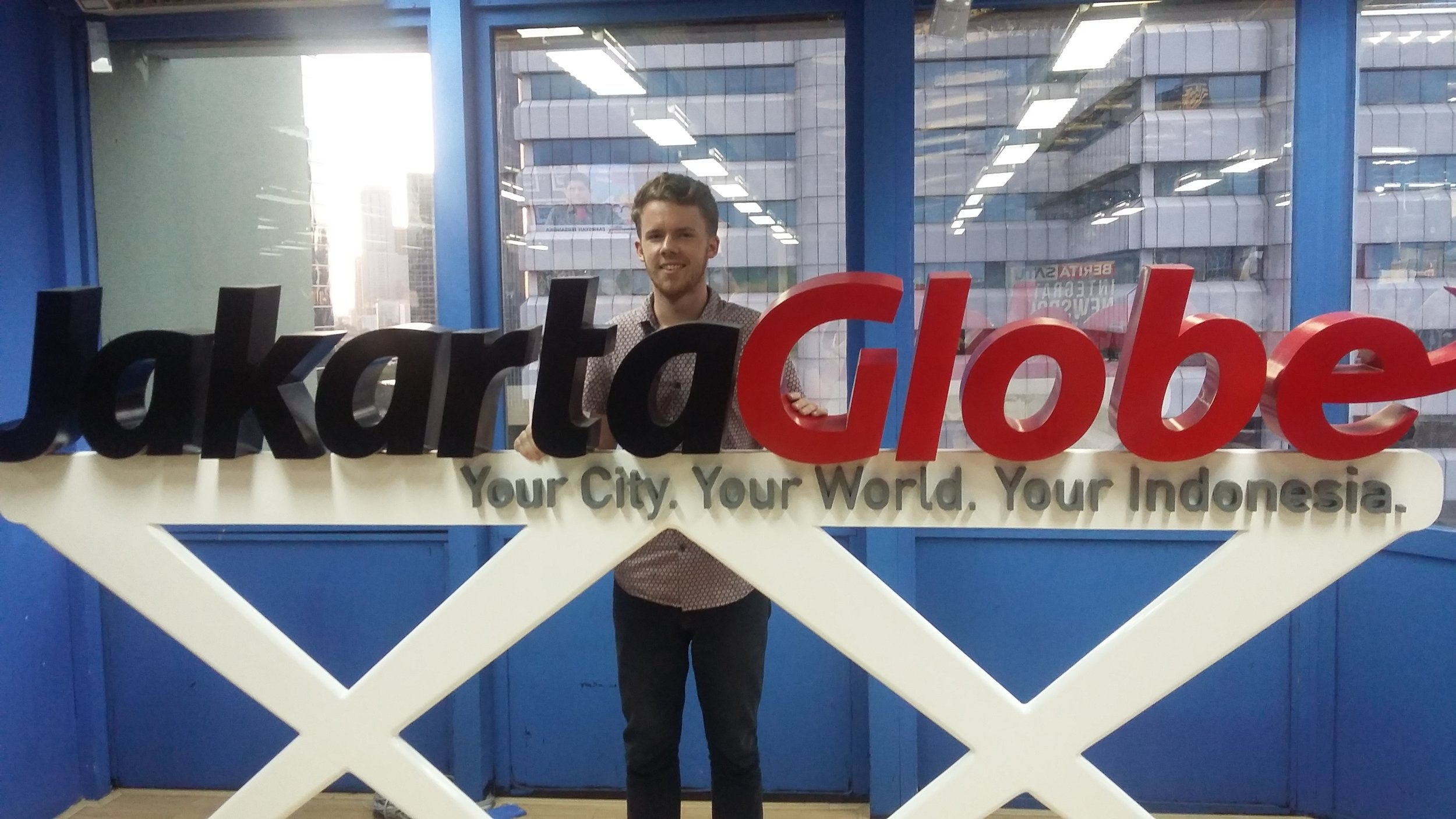 Internship at The Jakarta Globe. Credit - Lachlan