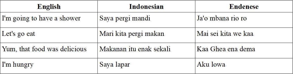 Endenese phrases UniBRIDGE