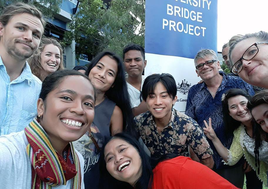 Selfie on the lawns of University of the Sunshine Coast