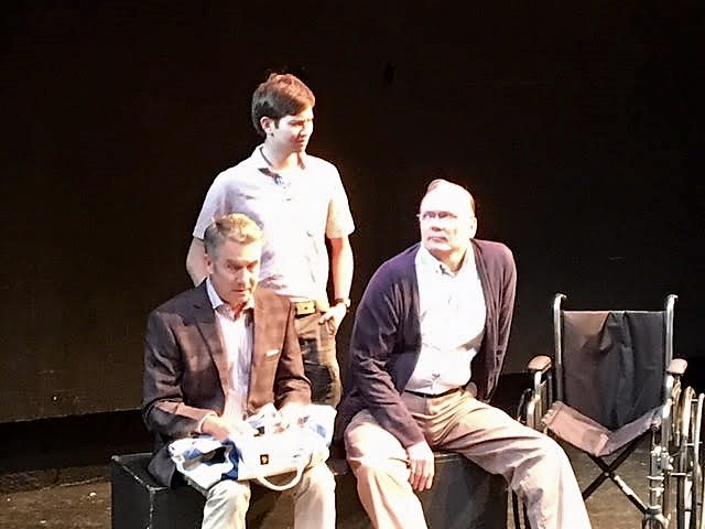 Kyle Merker, Leonard Rose, and Gary Dooley in  Blanche in a Wheelchair