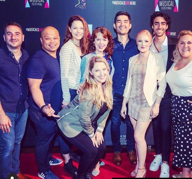Steve with the Cast and Crew of My Real Mother at the NYMF Opening Night Party