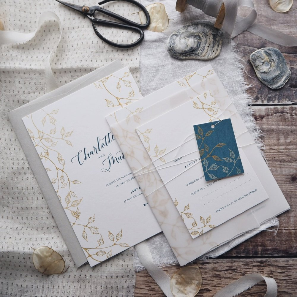 2. style your suite - From maps and information booklets to silk ribbon and vellum wraps, pick styling options to make your invitation suite truly yours.
