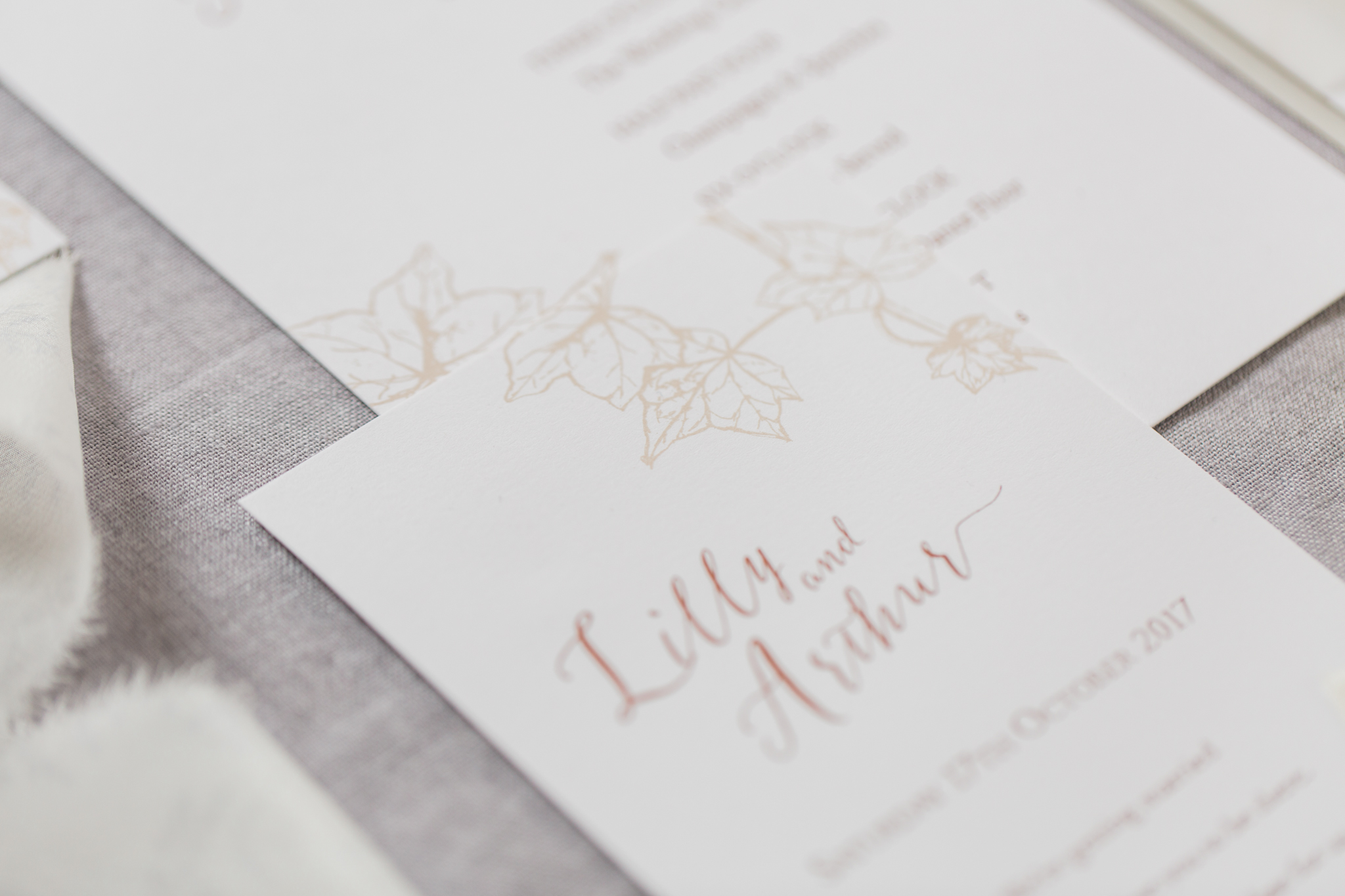 ivy - Long held as a symbol of fidelity, Ivy's evergreen leaves hold a certain bygone elegance.