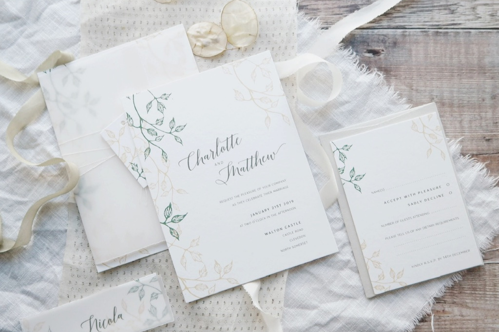add the details - Choose from a carefully considered collection of additional options and styling details to create an invitation suite that's truly yours.