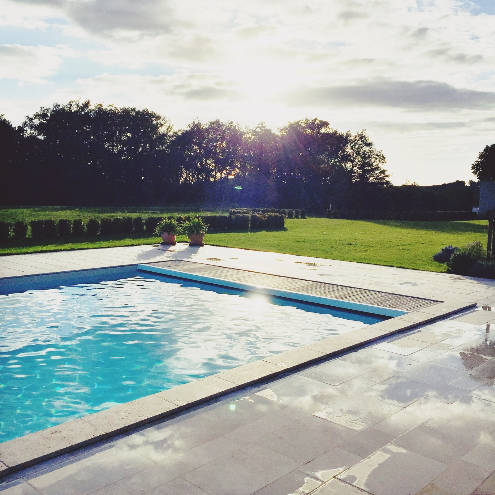 The pool at La Bailie, Salles.