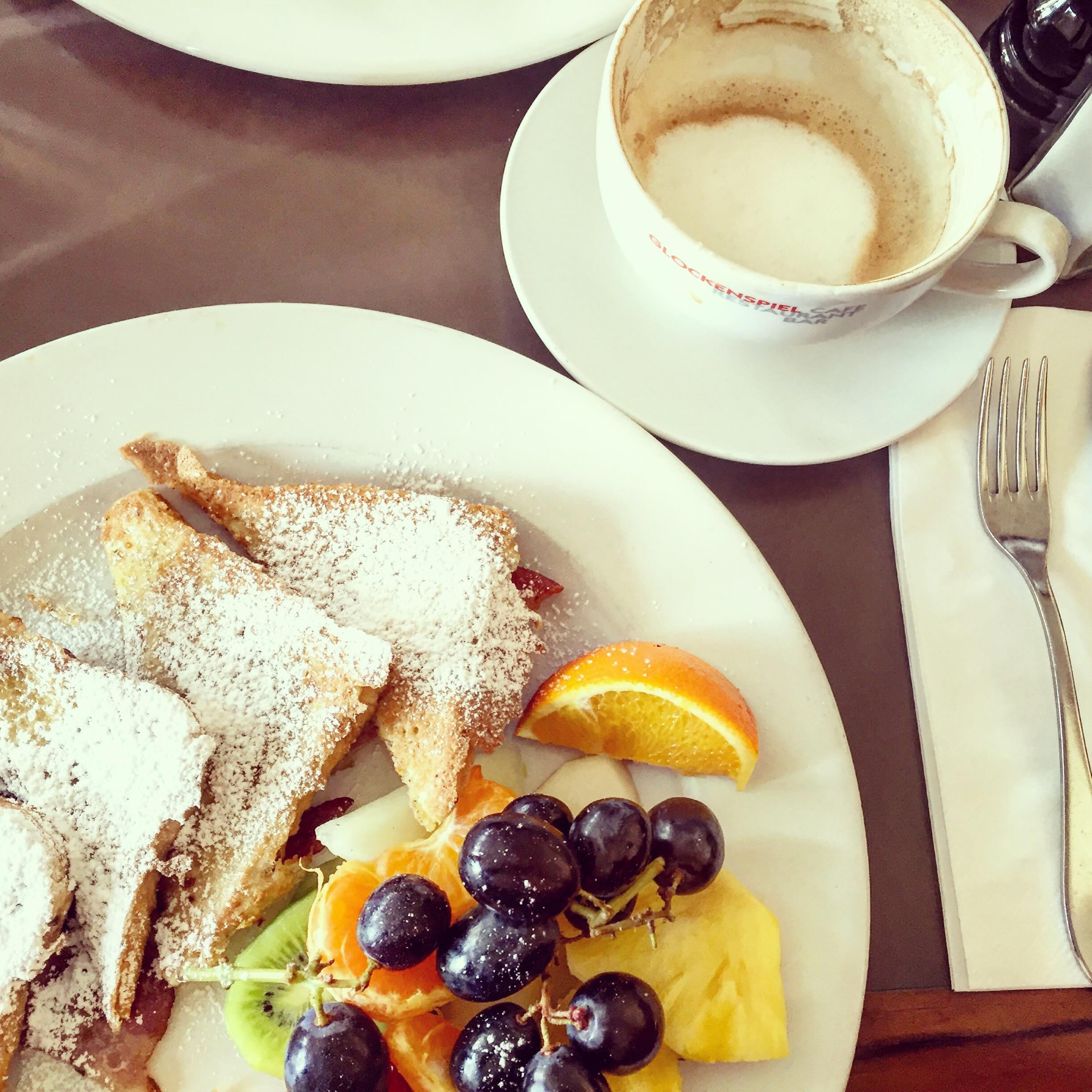 Delicious brunch at the Café Glockenspiel