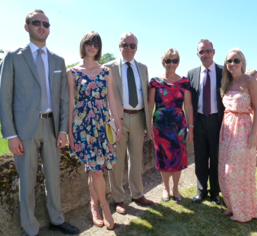 My family scrubbing up pretty well for a wedding in the South of France.