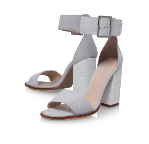 Kurt Geiger Pale Grey Block Shoe