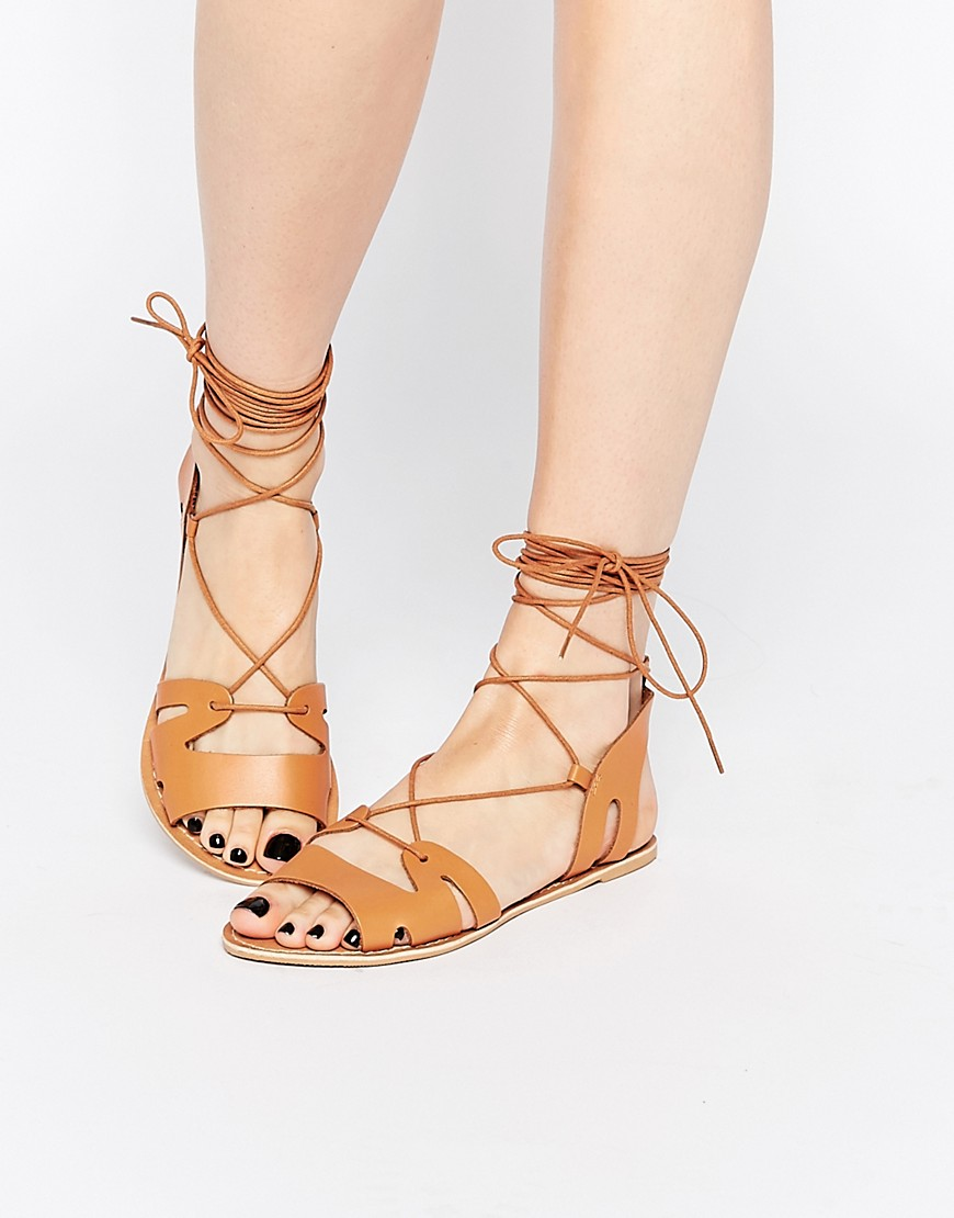 Asos Fuerta Lace Up Sandals, were £22, now £15, Asos