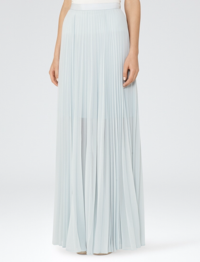 Rafa Grey Maxi Skirt, £125, Reiss