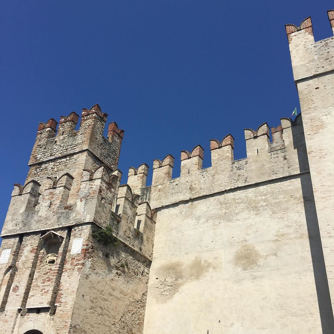 Scaligero Castle, the first thing you see when entering Sirmione.