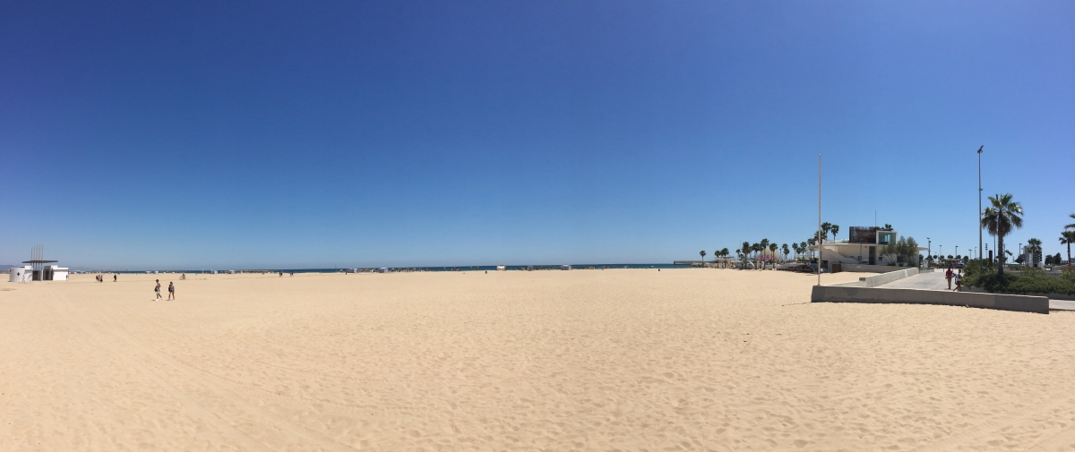 Quite the beach in Valencia - and this is only part of it