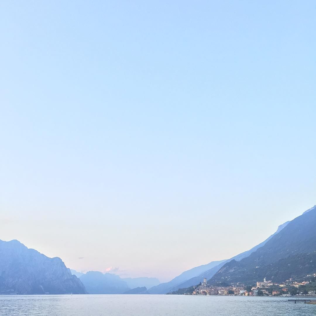 I looked at this view of Malcesine, Lake Garda whilst eating a huge bowl of pasta. And I didn't care one iota about how far I'd have to cycle to burn it off.