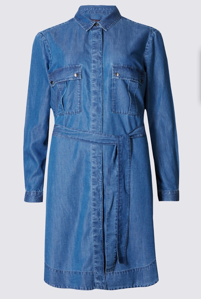 Long Sleeve Denim Dress, £39.50   Denim dresses make for the easiest weekend outfits. Plus this is a great season transistioner - just wear warmer shoes and a thin layer underneath up until the sun rears its shy head. Come the warmer months, I would wear it with flips flops and a cold cider in the local.