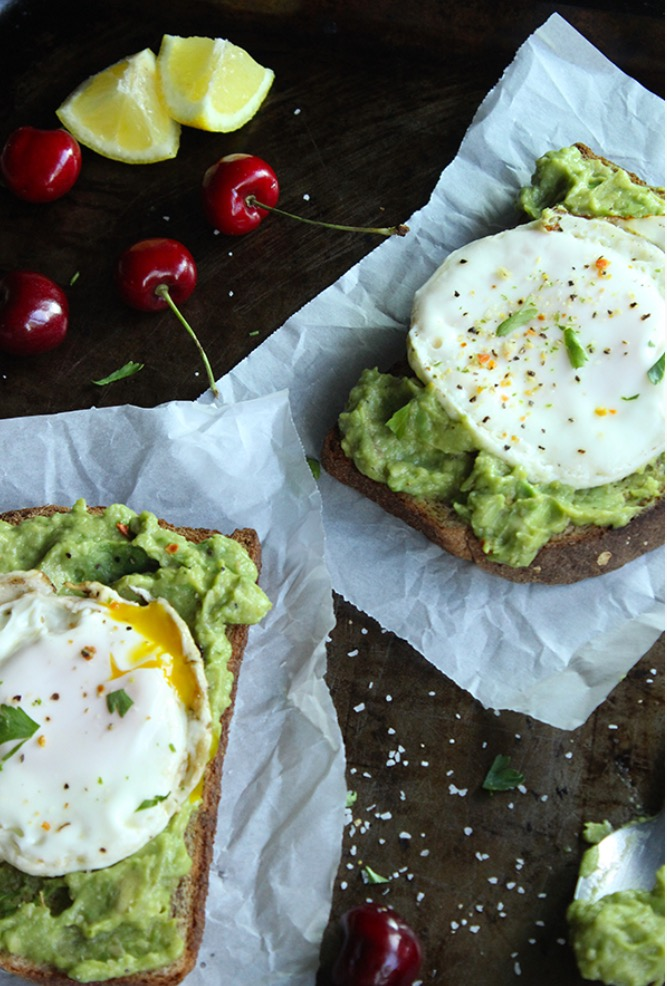 Simple Green Moms Skinny Fried Eggs and Avocado on Toast