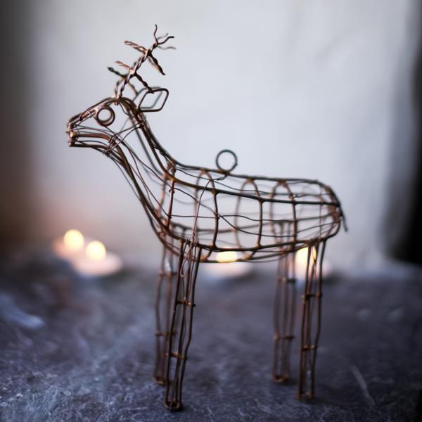 These lovely wire reindeer make an unusual and unique addition to your Christmas decorations.  www.alittlebitofnice.com