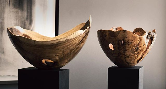 The ultimate unique center piece. #handturnedwood #proudlysouthafrican #interiordesign #bowls #ebony #creative #natural