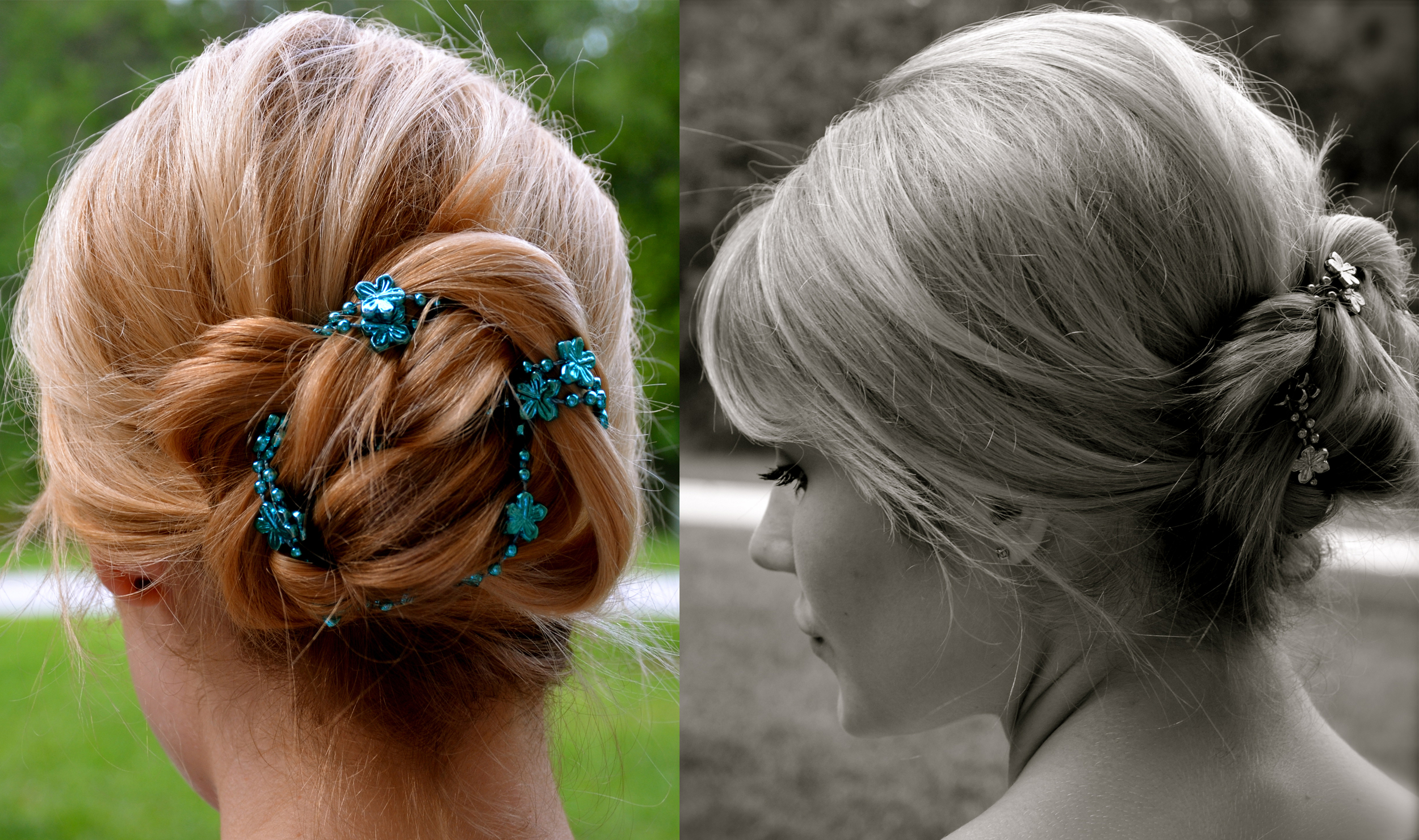Up Do with Bead Necklace