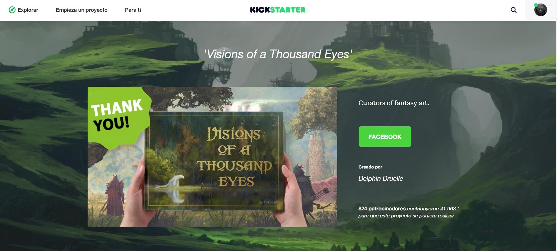Un proyecto en el cual participé hace poco, un artbook de  fantasy artists.