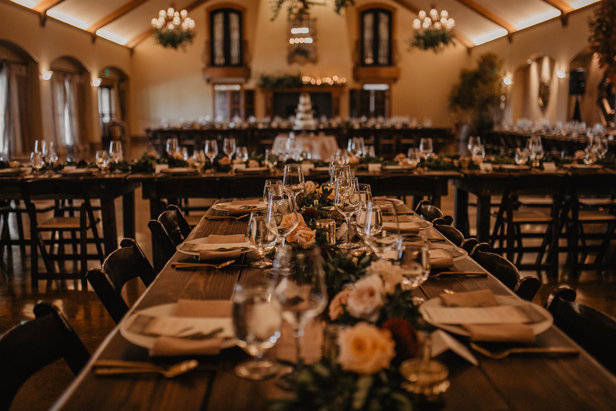 Zenith Vineyard wedding reception hall
