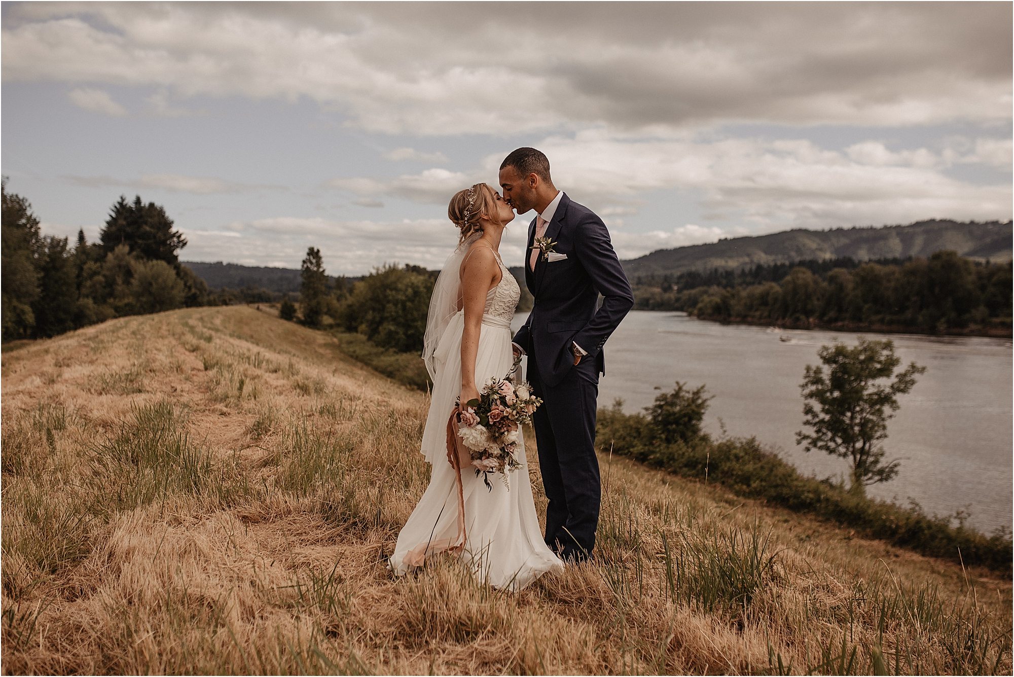 Sauvie island Portland wedding