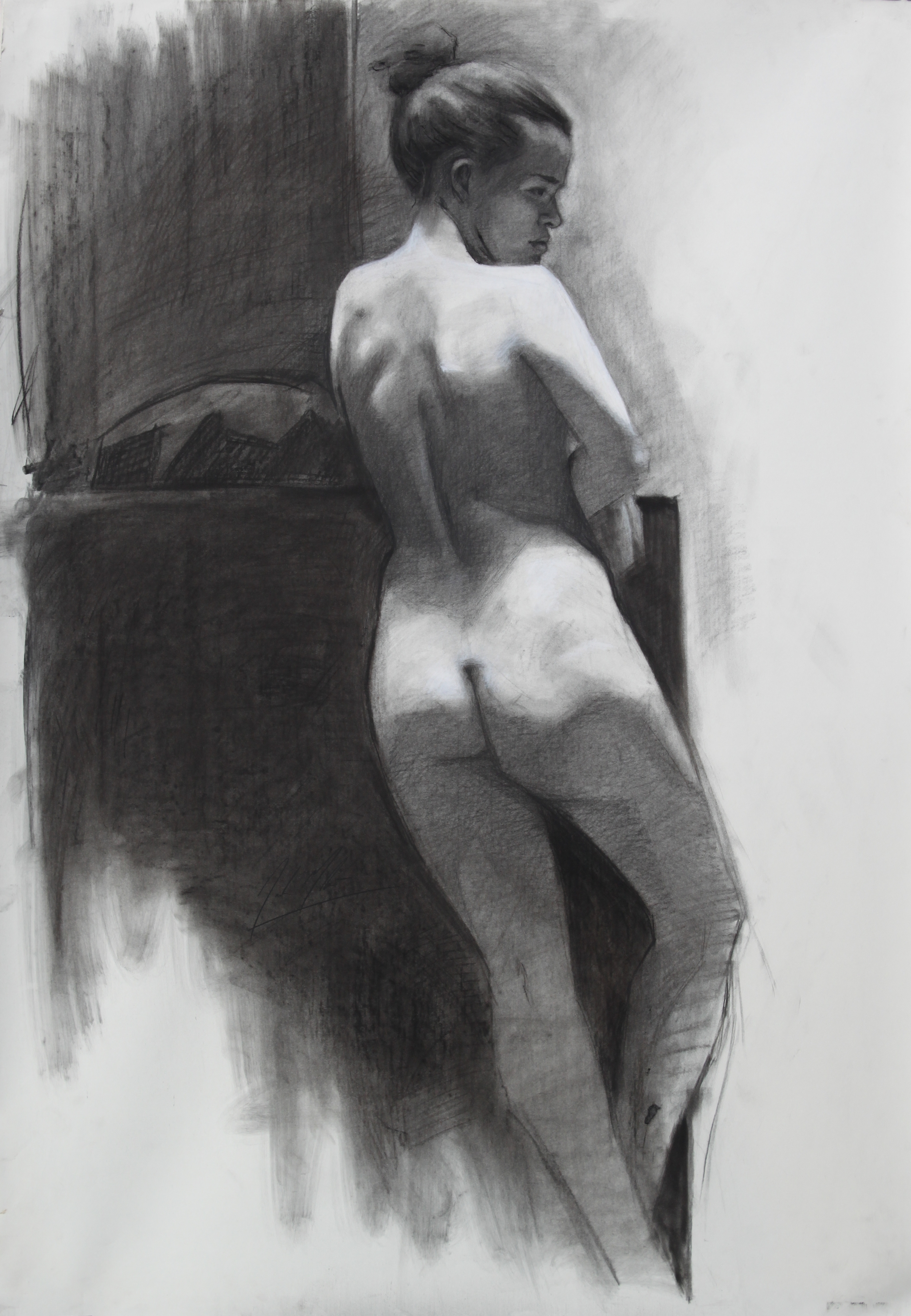 Julia, 2013,charcoal on paper, 42 x 29 inches