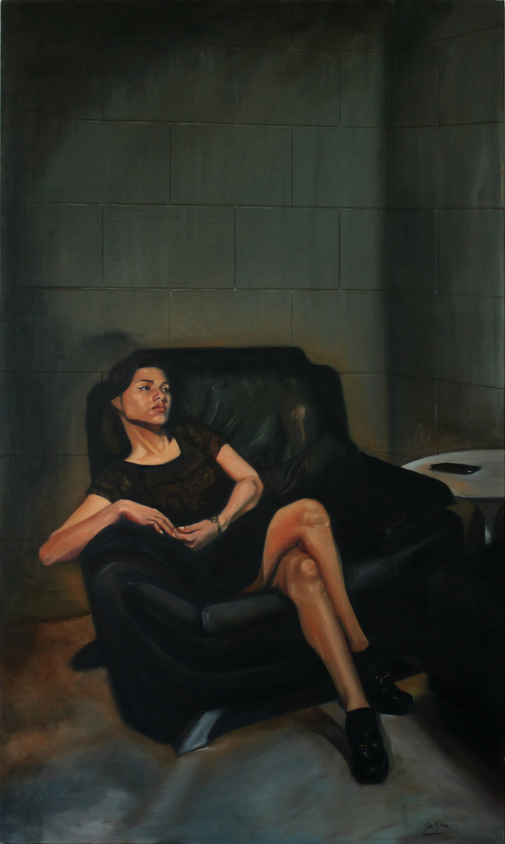 Void, 2014, oil on canvas, 60 x 36 inches