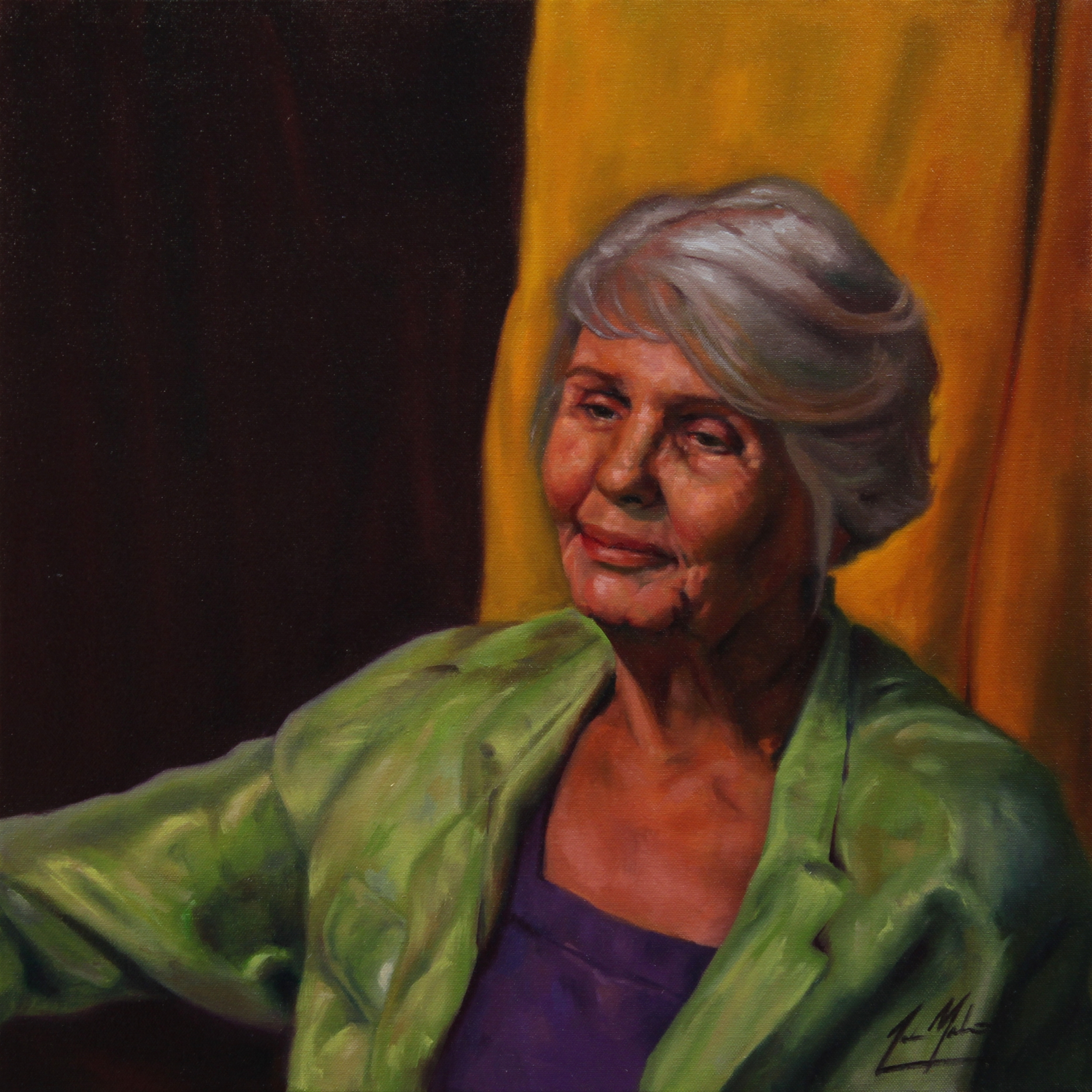 Beth, 2014, oil on canvas, 20 x 20 inches