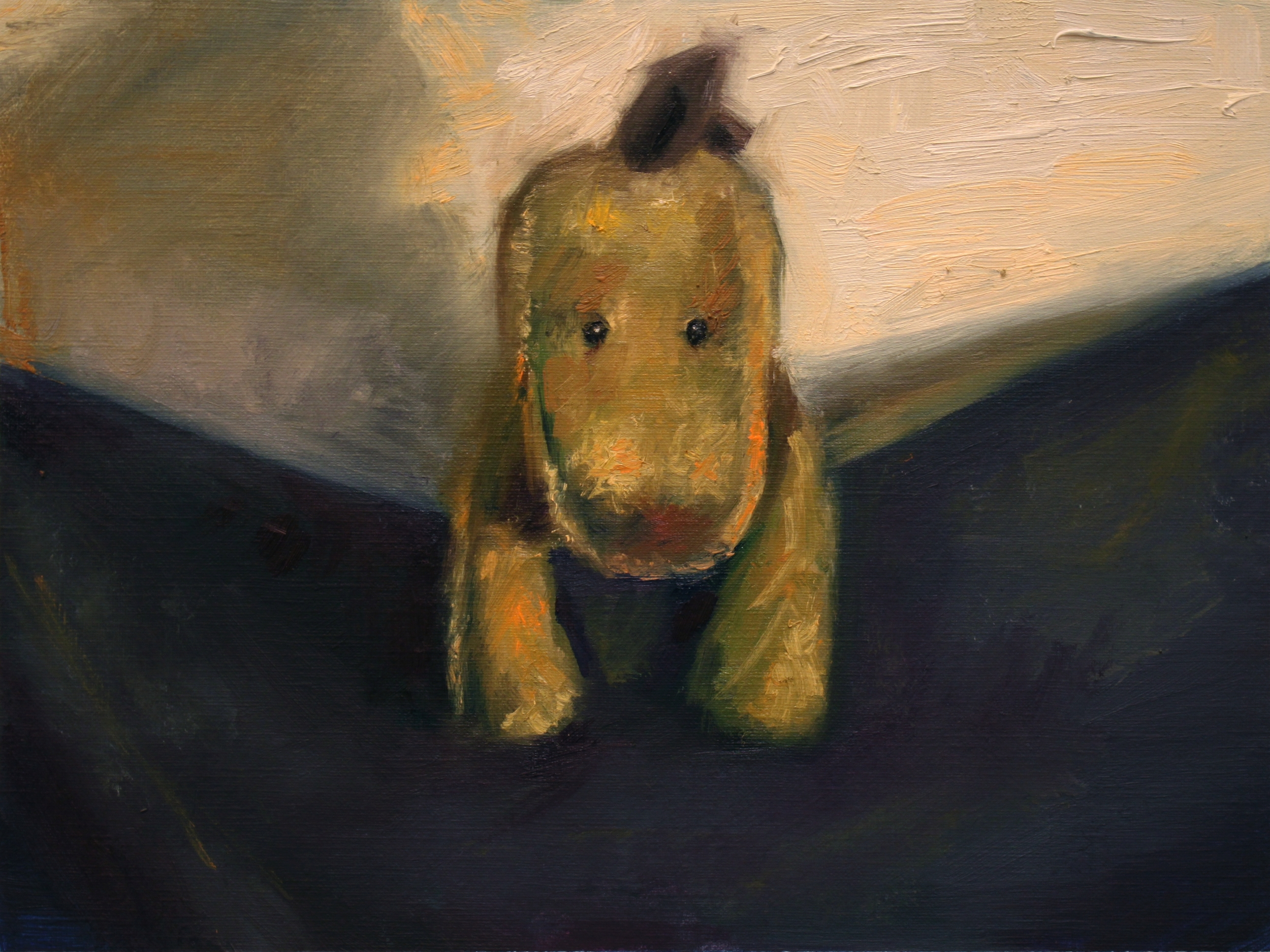 Waiting, 2014, oil on canvas paper, 9 x 12 inches