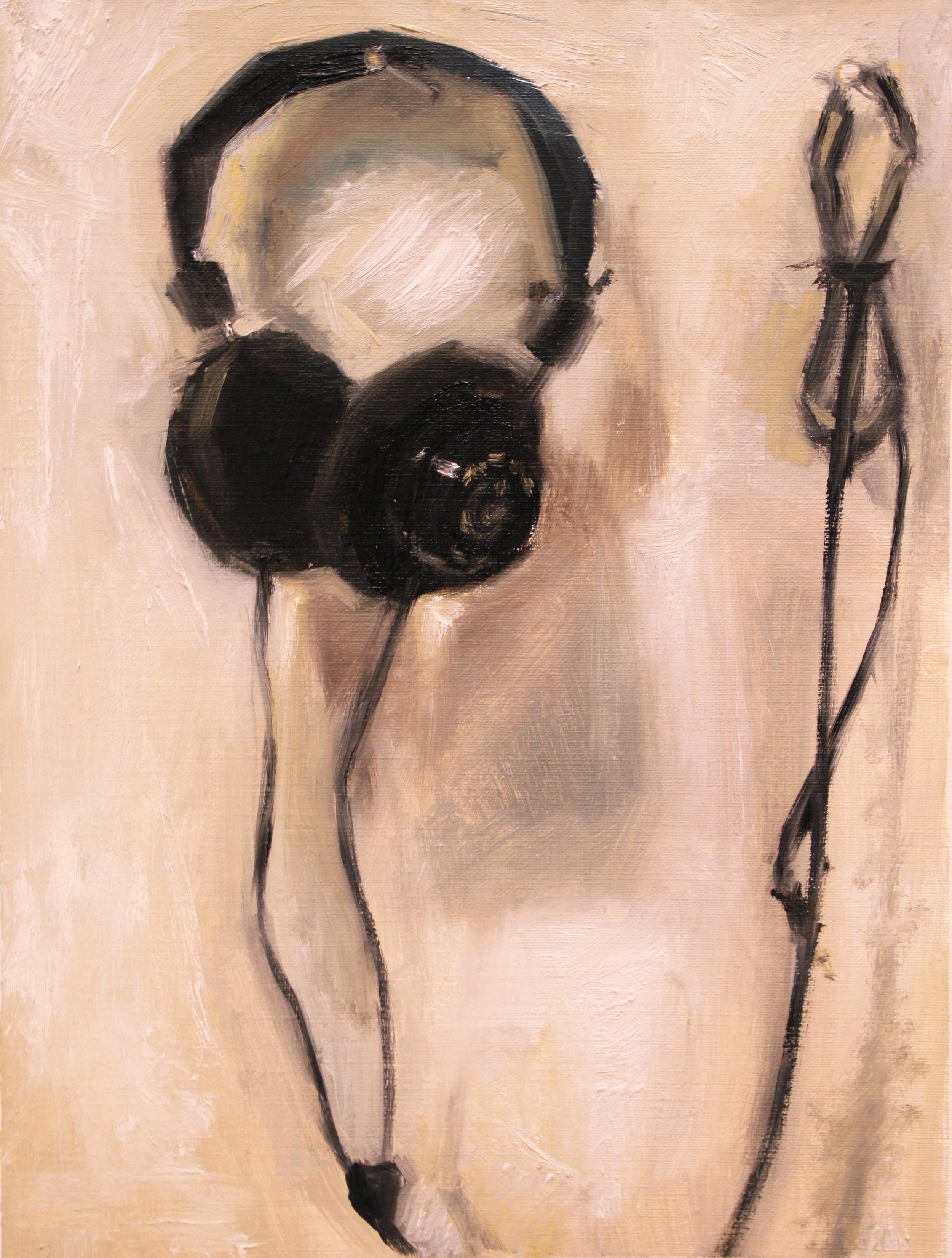Grado, 2014, oil on canvas paper, 12 x 9 inches