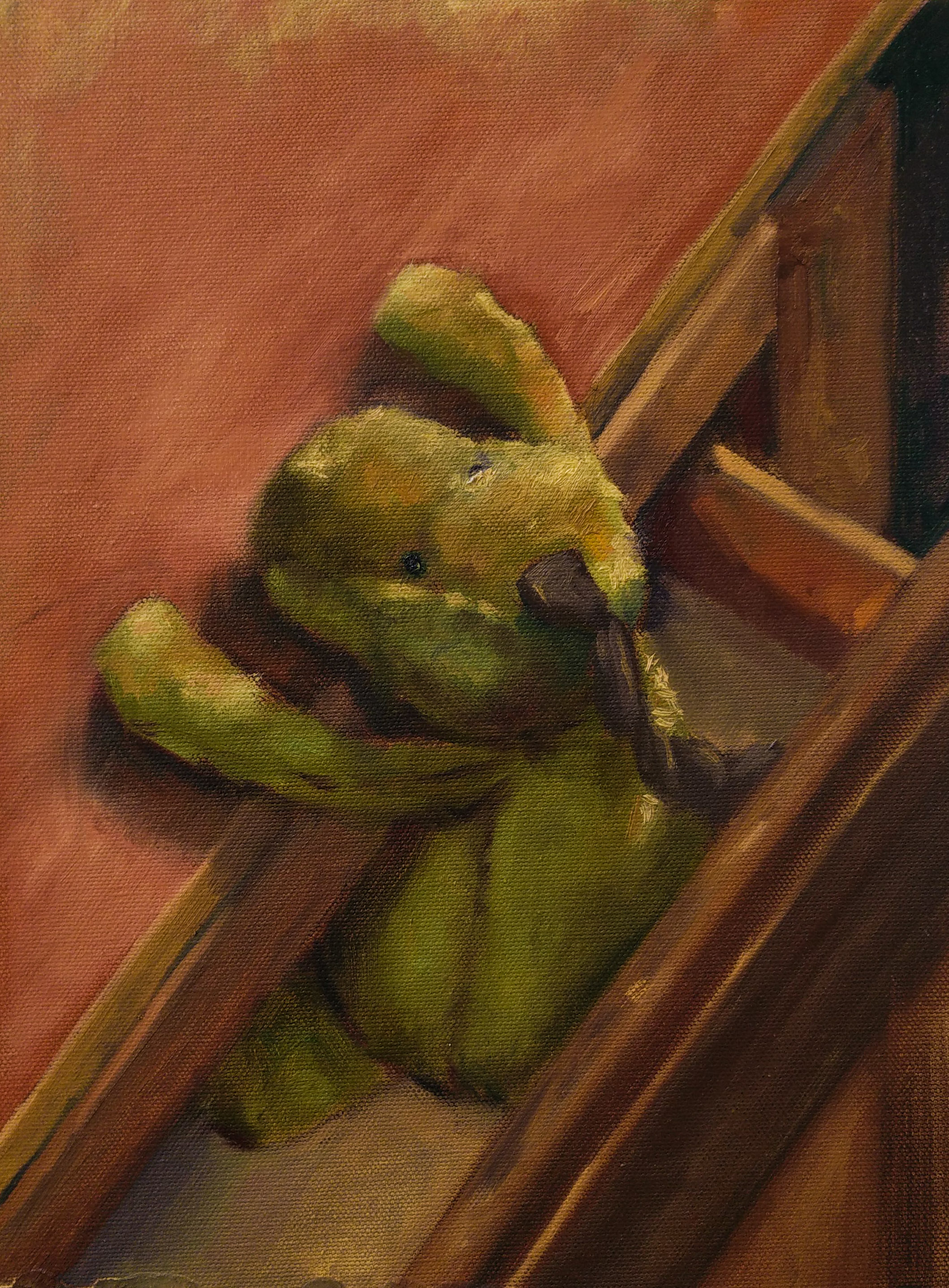 Yearning, 2015, oil on canvas, 12 x 9 inches