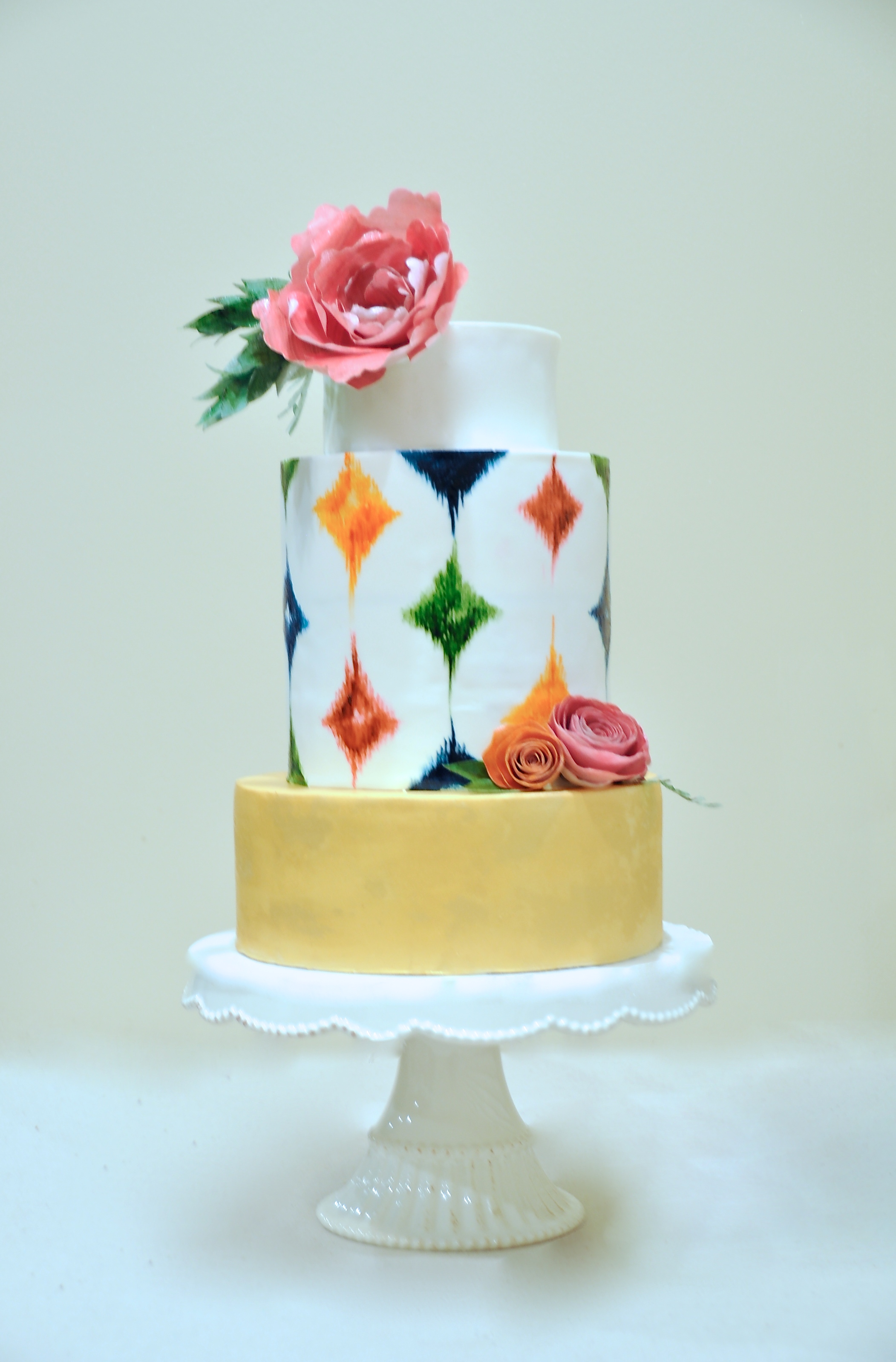 Bohemian Chic Wedding Shower Cake