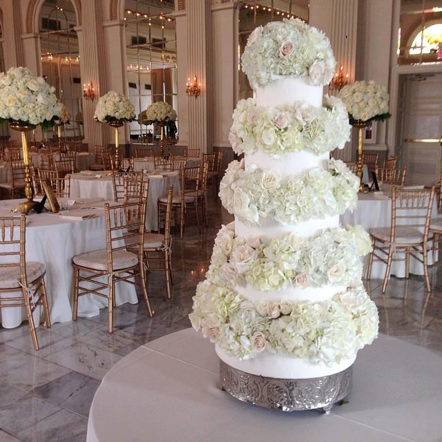 Floral Tiered Wedding Cake