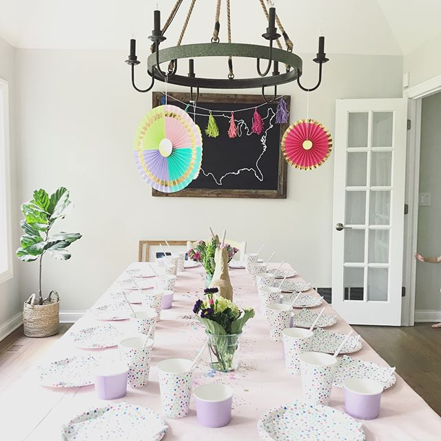 Because life is all about glitter, rainbows & unicorns! 🦄 Planning this little soirée has been especially fun! #unicorn #unicornparty #rainbow #birthdayparty #glitter #partyplanning #socharstyle #cocojames