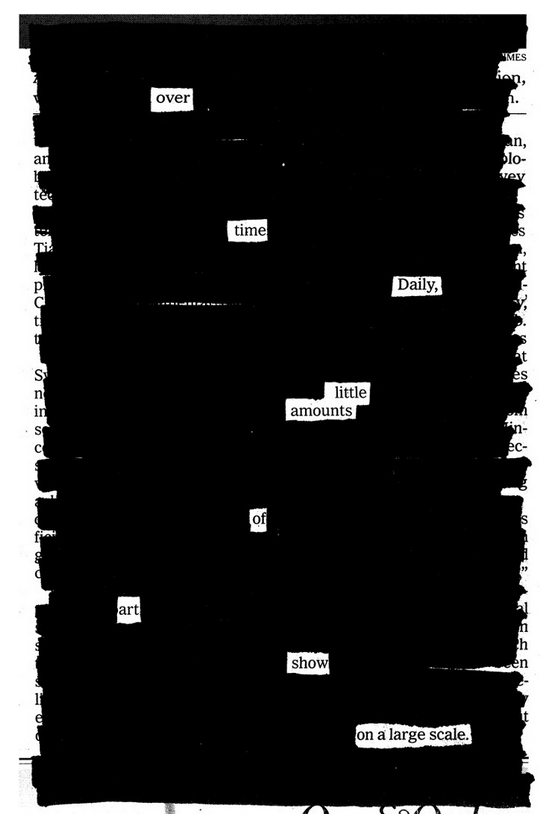 One of Austin's Newspaper Blackout Poems