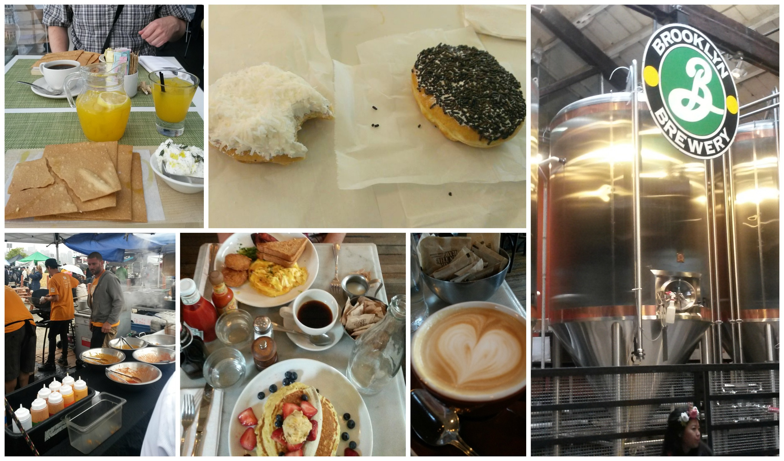 MoMa, Peter Pan Bakery, Brooklyn Brewery, Five Leaves and Smorgasburg.