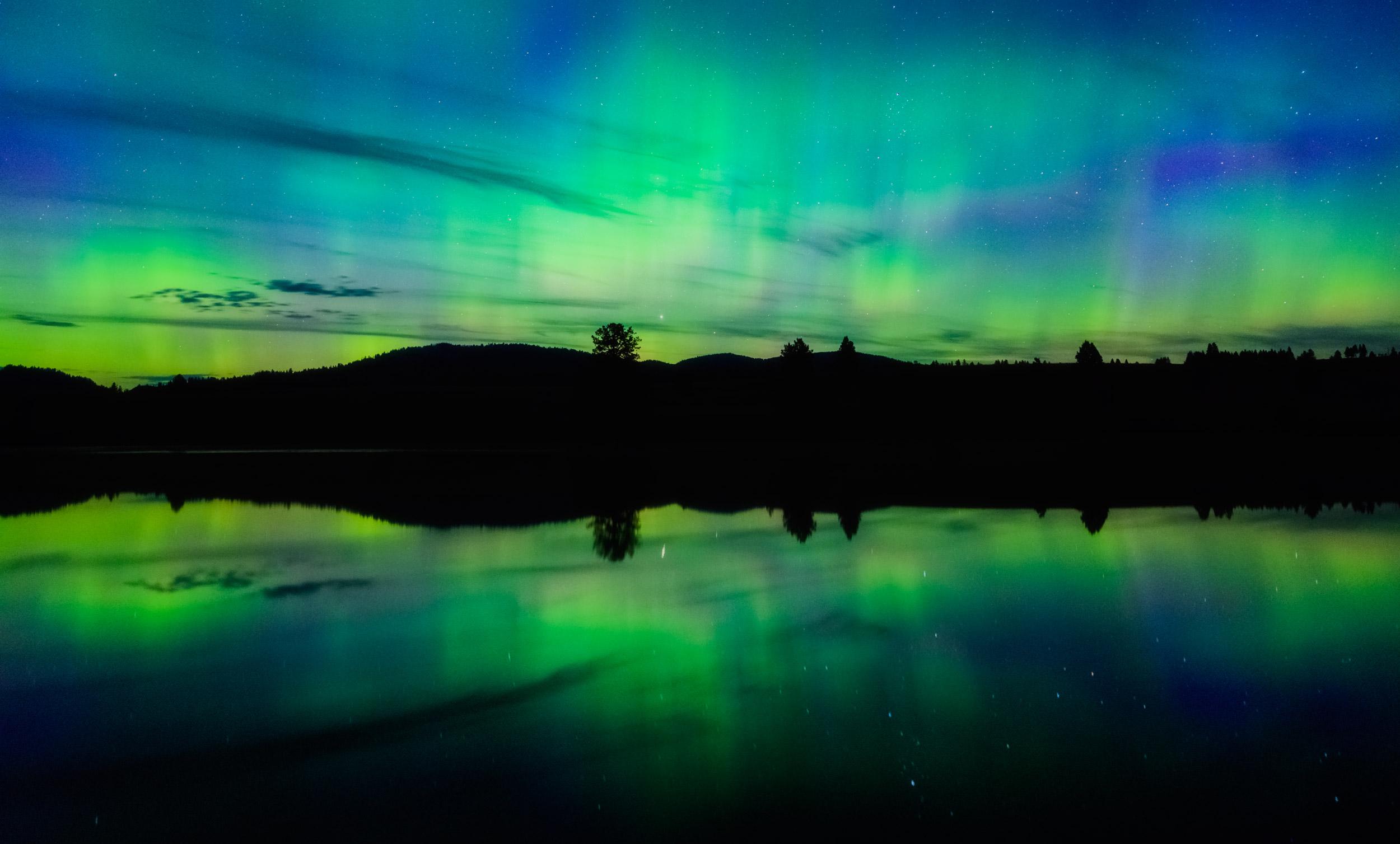 Aurora over Harper's