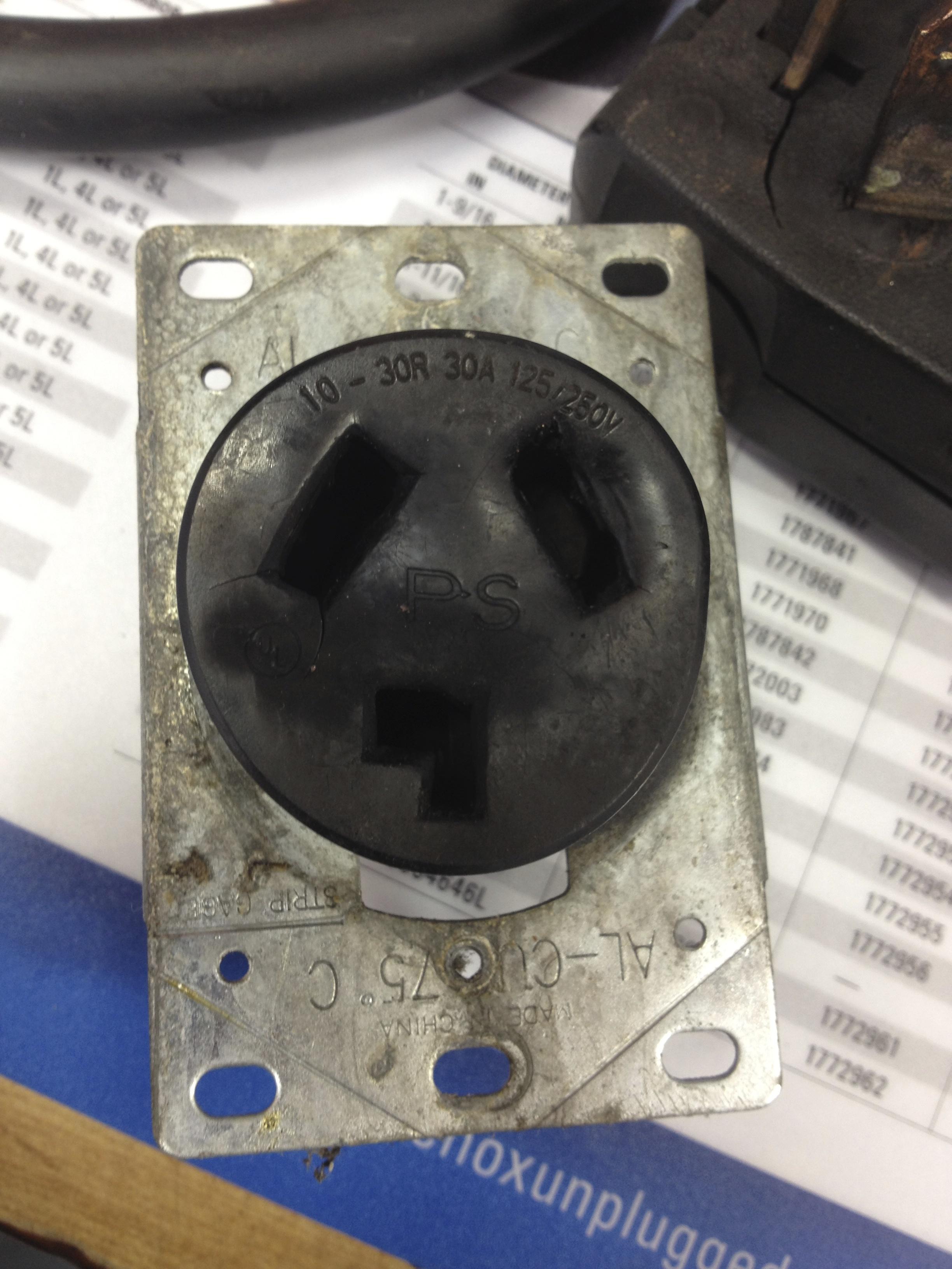 Damaged 220 volt Outlet