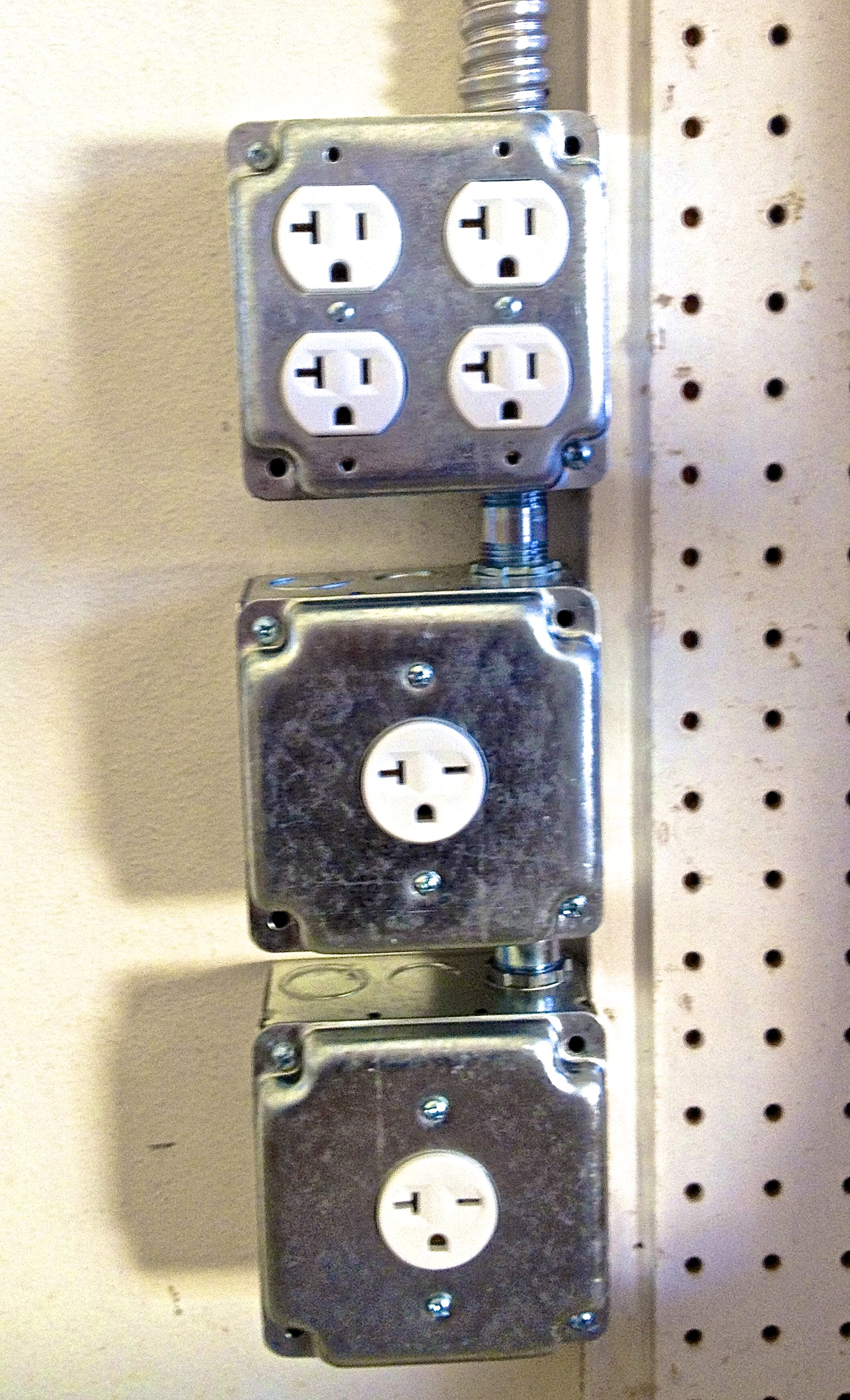 New Outlets in Garage