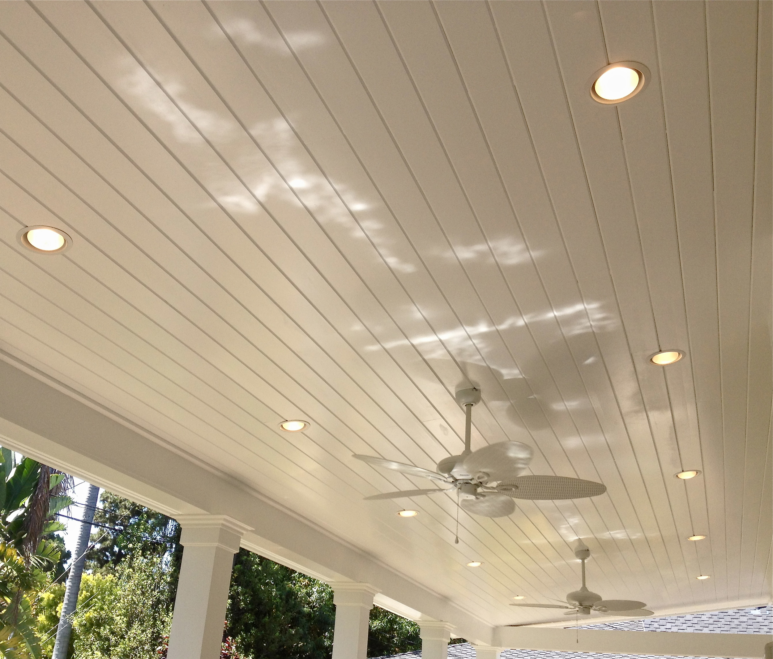 Outdoor Ceiling Fans and Recessed Lights